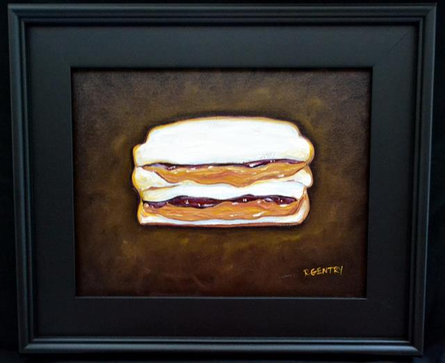 Expressionistic painting of Peanut Butter and Jelly